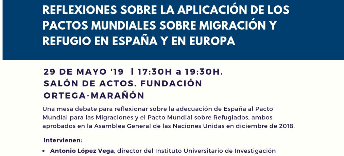 Mesa debate: Reflexiones sobre la aplicación de los pactos mundiales sobre migración y refugio en España y en Europa