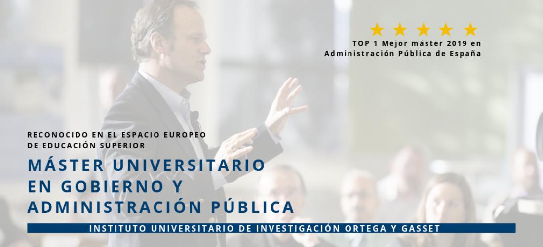 El Máster en Gobierno y Administración pública, número 1 en el prestigioso ranking de los mejores Másteres de El Mundo