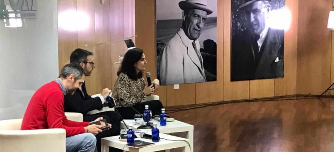 Los sociólogos de Metroscopia Francisco Camas y José Pablo Ferrándiz dialogan con los alumnos del IUIOG sobre las elecciones del 10 N