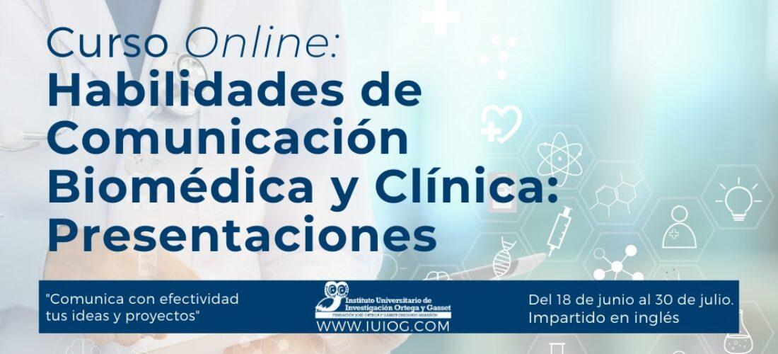 """Nuevo curso online: """"Habilidades de Comunicación Biomédica y Clínica: Presentaciones"""