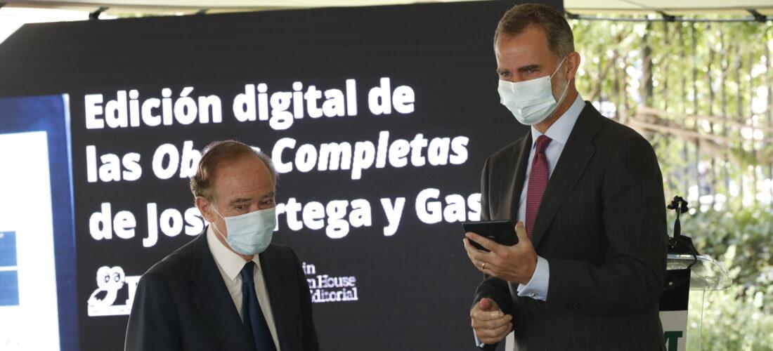 S.M. el Rey preside la presentación de la Edición Digital de las Obras completas de José Ortega y Gasset